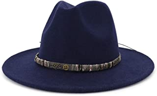 2019 Mens Womens Hats Womens Winter Fedora Hat for Women Lady Outdoor Sun Beach Hat Travel Chapeu Feminino Fedora Hat Gentleman Wool Wide Brim Jazz Church Cap Panama Fedora