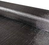 HuoPu Panno in Fibra di Carbonio Fai da Te Tessuto Nero 200g 50X200cm Confezione da 3K in Confezione Tubolare