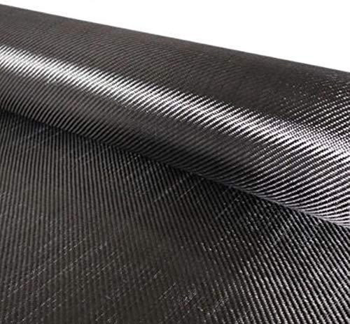 Tela de tela de fibra de carbono DIY Negro 200g 50X200cm Paquete 3K en paquete de tubo