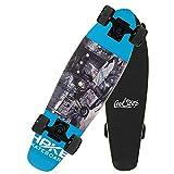 CNSTZX Tabla Completa de Monopatín Intermitente, Tabla de Skate Mini Cruiser, Placa de Calle Maple Wood Impresa, Tabla de Surf Longboard Kick Sports al Aire Libre, para Mujeres/Niños