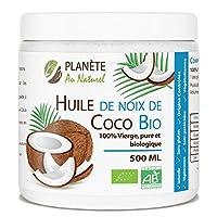 Huile de Noix de Coco Bio - 500 ml - Vierge Produit issu de l'Agriculture Biologique