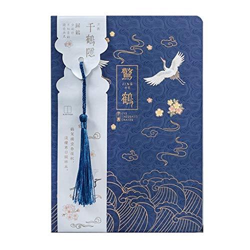 Cuadernos de redacción Cuaderno Chino Vintage Planificador de Cuaderno Chino Agenda Cuaderno de bocetos Diario Útiles Escolares Papelería Cuadernos Blocs y Cuadernos de Notas (Color : H)