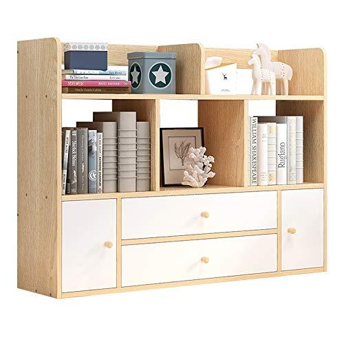 Biurko Top regał na książki drewniany biblioteka akcesoria biurowe schowek Caddy z szufladą for Home Office biurko do studia drewniany stojak na książki (kolor: A, wymiary: 113 x 24 x 80 cm)
