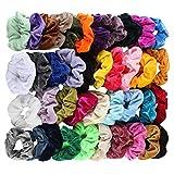 Cooljun 40/36/20 Stück Hair Scrunchies Samt elastische Haarbänder Haargummis Haargummis Seile Scrunchie für Frauen oder Mädchen Haarschmuck - 40 verschiedene Farben Haargummis (40 Pcs)