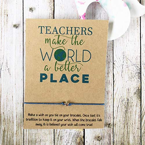 Wish Bracelet Star Pupil School Charm Bracelet Cord Bracelet Starting School Pupil Gift From Teacher