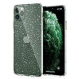 Meifigno Glitter iPhone 11 Pro Max Hülle mit Panzerglas,