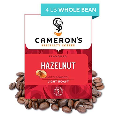 Cameron's Coffee Roasted Whole Bean Coffee, Flavored, Hazelnut, 4 Pound