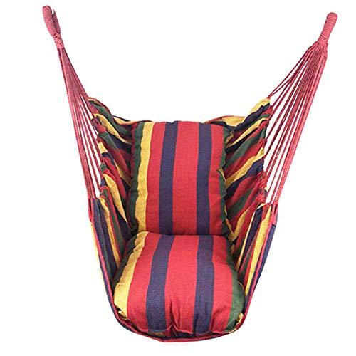 Hangmat Stoel Swing, Max Load 150Kg Wit Doek Opknoping Touw Chair, Oversized Kleur Stripes Rocking Seat, Soft Lekker Sterke Kind Volwassen Hangzitje