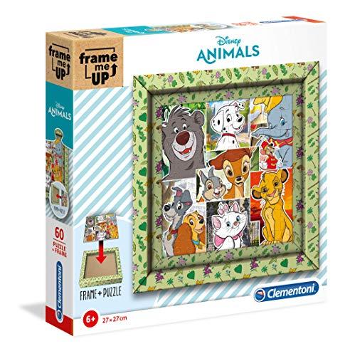 Clementoni- Puzzle Marco 60 Piezas Frame me up Disney Animals (38804.2)