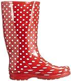 Playshoes Gummistiefel Punkte aus Naturkautschuk 190100, Damen Gummistiefel, Rot (rot 8), EU 40 - 6