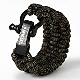 Titan Paracord Survival Bracelet | DRAGONSCALE | Large (Fits 8' - 9' Wrist) | Made with Authentic Patented SurvivorCord (550 Paracord, Fishing line, Snare Wire, and Waxed Jute for Fires).