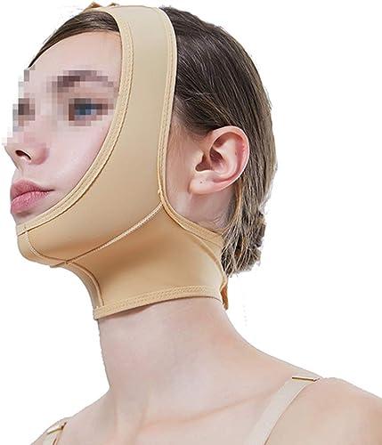 WYNZYSLBD Elastische Dünne Gesichtshaube, Unterkieferhülse Postoperativ Elastische Hülse Gesicht Dünne Doppelkinn Beast Bar Mit V-Gesichtsmaske Multi-Größe Optional (Größe   M)