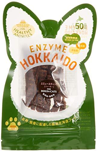 ヘルシーアニマルズ (HEALTHY ANIMALS) 北海道エミュースティックジャーキー 無添加・無着色 「酵素、たもぎ茸配合」 30g