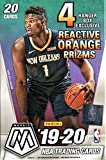 2019-20 Panini MOSAIC Basketball Card Factory Sealed HANGER Box - Exclusive REACTIVE ORANGE PRIZMs - 20 Cards per Box - Find Zion Williamson and Ja Morant Rookie Cards!