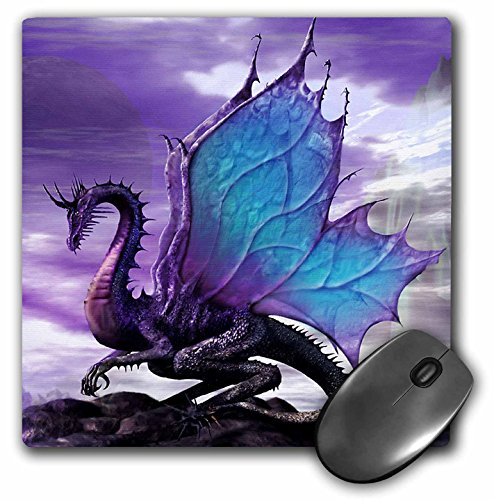 3dRose LLC 8 x 8 x 0.25 Inches Mouse Pad, Fairytale Dragon (mp_4144_1)