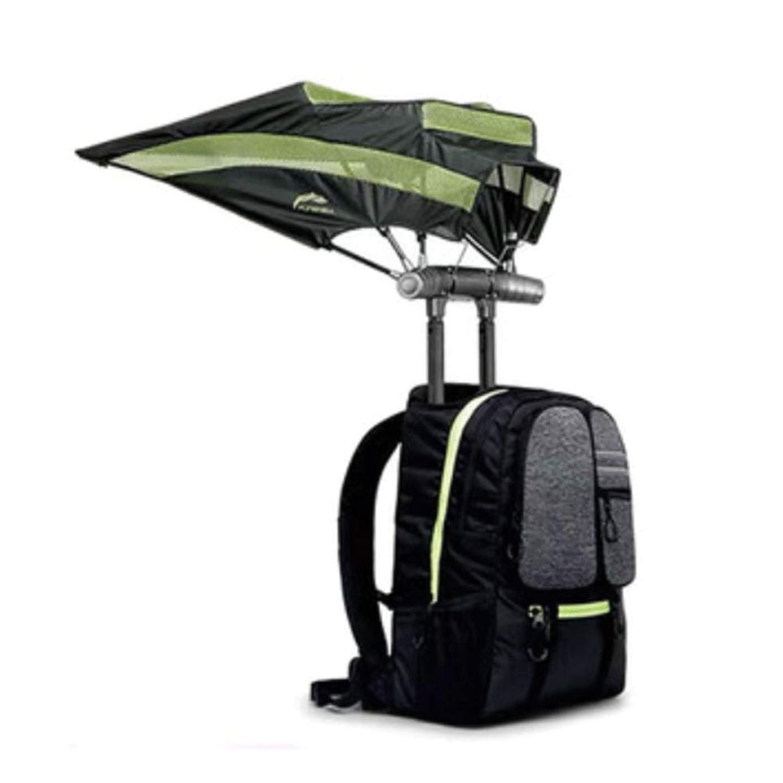 AXDNH Backpack with Umbrella, Smart Rucksack Bluetooth Speaker USB Charging Men and Women Outdoor Mountaineering Travel Knapsack Umbrella Liberation Hands,Green
