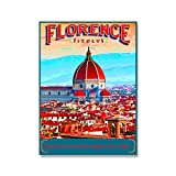 Misszhang Poster and Prints Landscape Italy France Florence Florida Paris Peru Greece Artwork Paintings Art Canvas Wall Pictures Home Decor S529 Unframed 40X50Cm