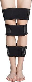 Legs Corrector, Set of 3 Breathable O/X Leg Corrector Comfortable Straighten Belt Leg Posture Correction Bandage for Men, Women, Teens, Universal Size, Black