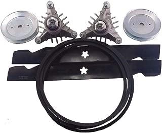 proven part 42 Inch Deck Rebuild Kit Blades Belt Spindles Pulleys Replace Craftsman LT1000 LT2000 Mower 532129861 130794