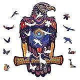 Puzzles De Madera para Adultos, águila Calva A Prueba De Agua Juguetes Saludables Puzzle De Forma única Piezas Niños Y Adultos, M 7.9 * 11.8in 209pieces