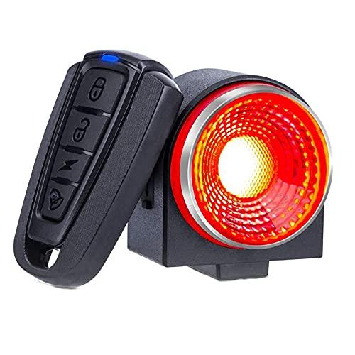 SANLAIHGJY Alarma de Bicicleta de Control Remoto Alarma de Seguridad antirrobo Alarma de Bicicleta Sensor de vibración Detector de Bicicleta Cuerno eléctrico lámpara de Cola de Bicicleta