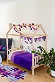 Sweet Home of Wood Montessori - Cama Infantil con Patas, Natural, 135 x 190 cm