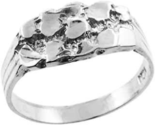 Nugget Rings High Polish Sterling Silver Solid Baby for Boys