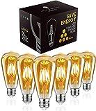 Edison Glühbirne E27,Woowtt Edison Vintage Glühbirne,6W LED Glühbirne,LED Filament Lampe...
