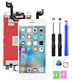 Ecran De Remplacement pour iPhone 6S Ecran Tactile LCD 3D Touche Ecran D'Affichage avec Kit D'Outils Complet De Réparation Blanc (4.7 Pouces)