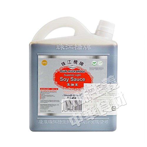 珠江橋牌【業務用】中国醤油天然醸造生抽王(薄口)1.8L中華食材調味料210310