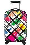 Koffer, Reisegepäck, Trolley by Heys - Premium Designer Hartschalen Koffer - Novus Art Brush Strokes Handgepäck