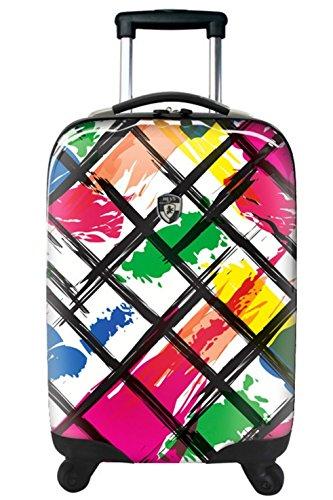 Koffer, Reisegepäck, Trolley by Heys - Premium Designer Hartschalen Koffer - Novus Art Brush Strokes Koffer mit 4 Rollen Gross