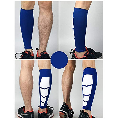 Tuzi Qiuge Kneepad 2 PCS Sport hohe elastische Praktische Im Freien Klettern Basketball-Knie-Stütz Guards Schutz vor Verletzungen QiuGe (Color : Blue)