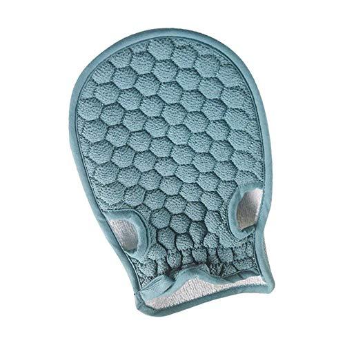 Serviette exfoliante pour le bain - En nid d'abeille - 21 x 14 cm