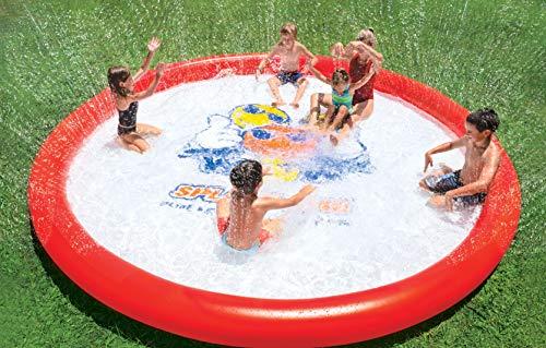 Wow World of Watersports Giant Splash Pad 10 Feet Diameter Inflatable Splash Pad with Sprinkler | 21-2040