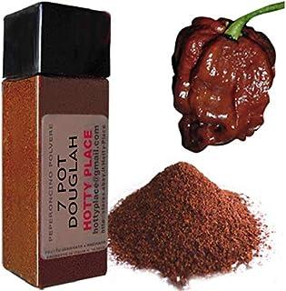 7 POT DOUGLAH Chili Pulver Anhaltender trockener Geschmack EXTREME SCHARF im 10g Flasche