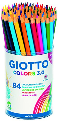Lápices de Colores Giotto Colors 3.0 Bote 84 Uds, Multicolor