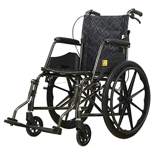 N/Z Daily Equipment Wheelchair Foldable Lightweight Manual with Double Brake Comfortable Armrest Adjustable Foot Pedal Disabled/Elderly Push Scooter