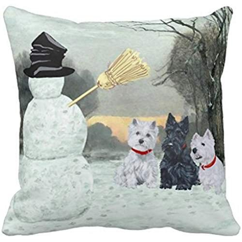 Scottie And Westies Terrier Winter Rf8b9f428fa534ed8adc0f646fb89b272 I52ni 8byvr Pillow Case
