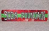 No Branded Placa metálica SODA FOUNTAIN tienda de malta, bebidas heladas colas batidos, sala, refrescos, farmacia, refrescos, cueva de hombre