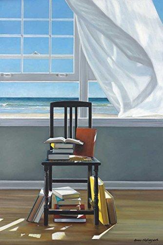 Kunstdruck auf LEINWAND im SCHATTENFUGENRAHMEN Hollingsworth- Karen Strand Scholar Leinwandbilder im moderner Holzrahmen Küsten Vertikale cm_72_X_47
