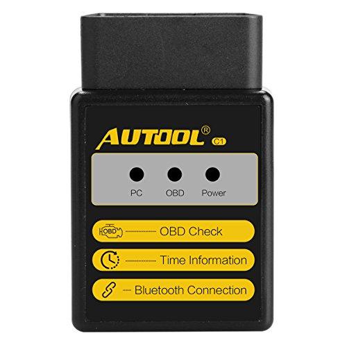 Bluetooth OBD2 Lector de escáner de diagnóstico del coche C1 Check Engine...