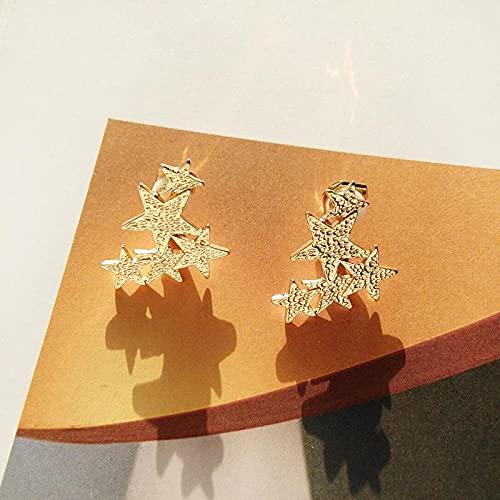 FEARRIN Pendientes para Mujer Stud Sweet Design God Star Pendientes para Mujer Joyas Goldclip