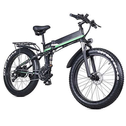 HGCY Folding Electric Bike for Adults, Portable Easy to Store, LED Display Electric Bicycle Commute E-Bike 1000W Motor, 12.8Ah Battery, 40km/h Max Speed, 230Kg Max Load,B
