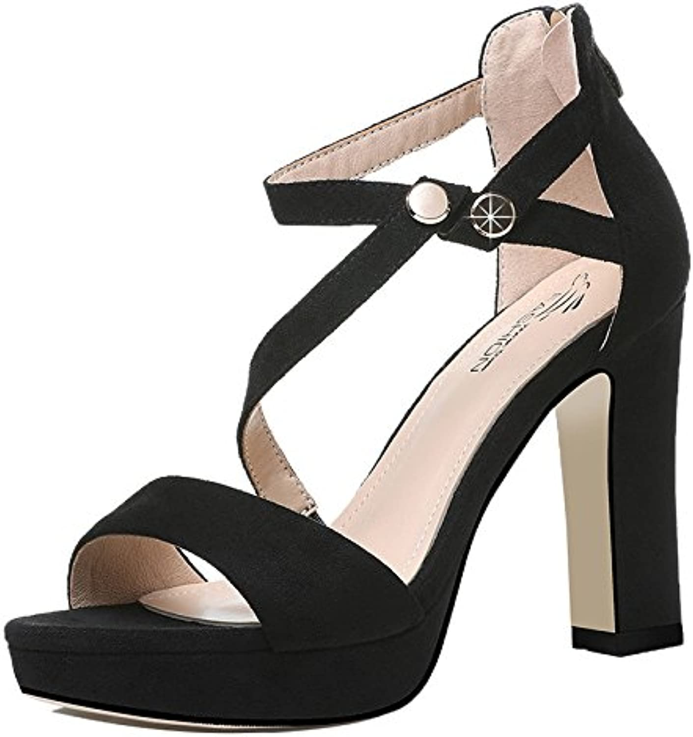 Rough Heel Sandals, Ladies' Summer Heels, high Heels, Fashion Ties, Single shoes.