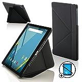 Forefront Cases Google Nexus 9 8.9 Zoll Origami Hülle Schutzhülle Tasche Case Cover Stand - R&um-Geräteschutz Smart Automatische Schlaf Wach Funktion + Stift und Bildschirmschutz (SCHWARZ)