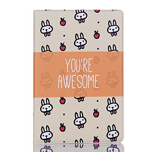 Happy-L de Estuche para Galaxy Tab S6 Lite 10.4 Pulgadas Cute Dibujos Animados Animales Diseño PU Cuero Flip Wallet Soporte Tablet Funda Funda Modelo SM-P610 / P615 2020 Lanzamiento