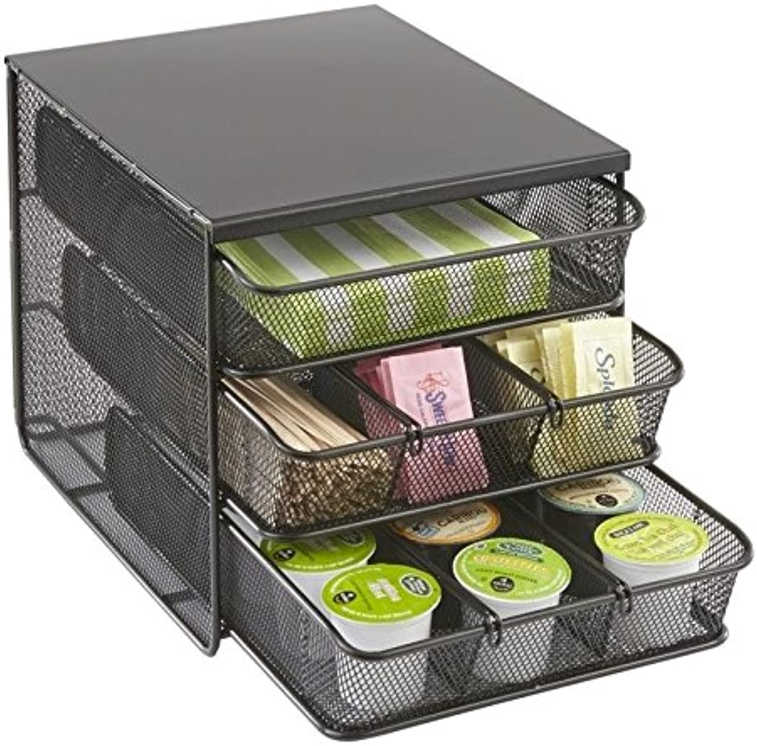 Pemberly Row 3 Drawer Hospitality Organizer in Black