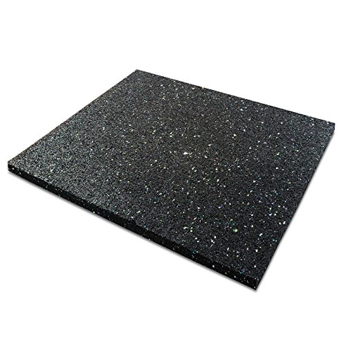 casa pura Anti-Vibration Pad - Rubber Vibration Isolator Mat | Matting for Washing Machines, Washers, Dryers and Appliances | Multiple Thicknesses & Sizes | 3/8' Thick - 24' x 24'