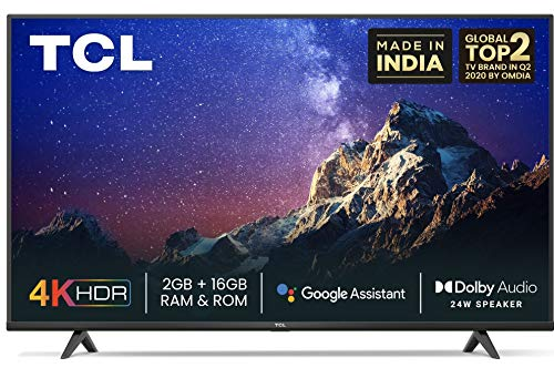 TCL 126 cm (50 inches) 4K Ultra HD Certified Android Smart LED TV 50P615 (Black) (2020 Model) |...